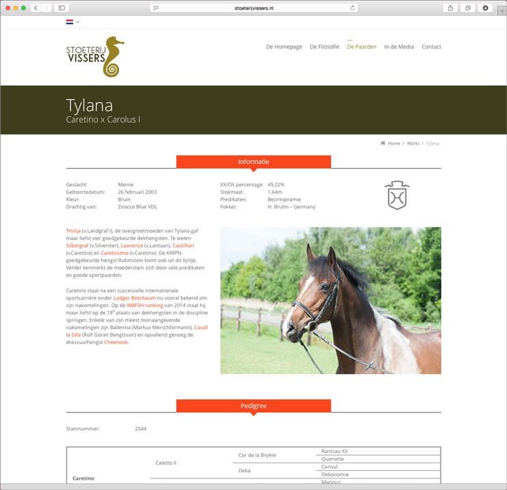 Website Stoeterij Vissers