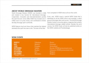 Marketing Paarden World Dressage Masters