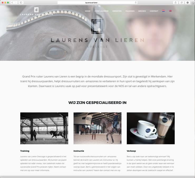 Website Laurens van Lieren Dressage