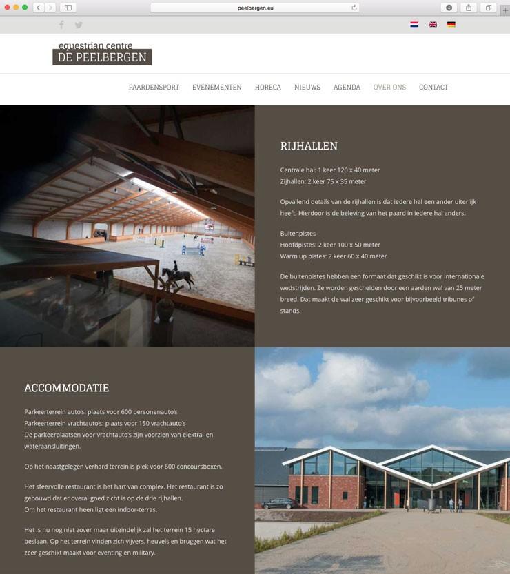 Website Equestrian Centre De Peelbergen