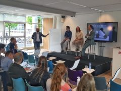 Gastcollege van Luc tijdens International Week Avans