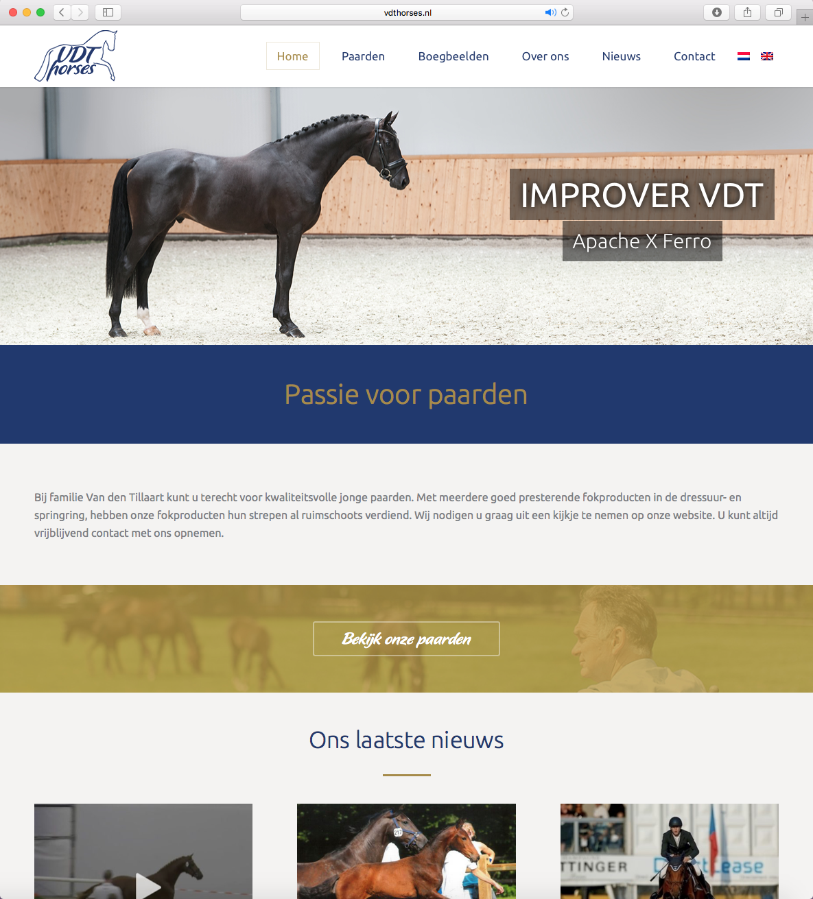 Nieuwe website VDT Horses.